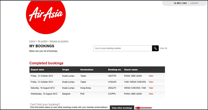 AirAsia | Booking | Book low fares online