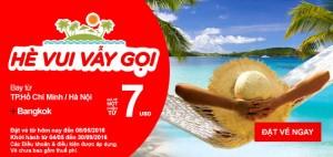 AirAsia khuyến mãi Hè vui vẫy gọi, vé chỉ từ 7 USD!