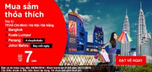 Vé 7 USD, vui hè sôi động cùng AirAsia!