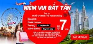 Đặt vé 7 USD, cùng AirAsia đón niềm vui bất tận!