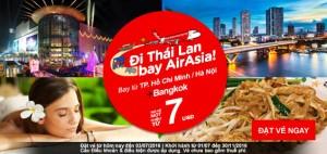 Cùng vé 7 USD AirAsia đón mùa hè tuyệt vời!
