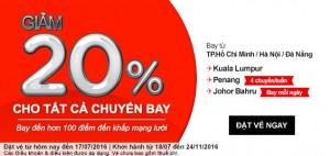 Giảm ngay 20% giá vé khi bay cùng AirAsia!