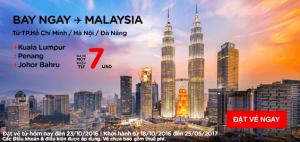 Khuyến mãi hấp dẫn từ AirAsia, vé 7 USD!