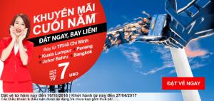 AirAsia siêu khuyến mãi vé 6 USD, đặt ngay bay liền!