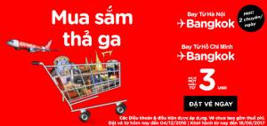 Vé rẻ AirAsia 3 USD, thả ga du lịch mua sắm!
