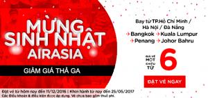 Giảm giá thả ga mừng sinh nhật AirAsia!
