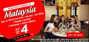 Vé chỉ từ 4 USD, cùng AirAsia khám phá hương vị Malaysia!