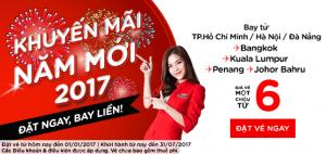 Đặt vé AirAsia, bay khắp nơi đón năm mới 2017!