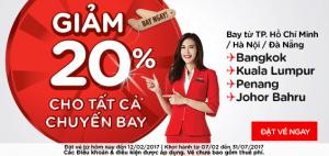AirAsia giảm ngay 20% giá vé các chuyến bay!