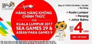 Mừng Sea Game 29, AirAsia tung vé khuyến mãi 4 USD!