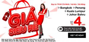 AirAsia khuyến mãi vé 4 USD, mùa hè tuyệt vời!