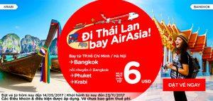 AirAsia mở bán vé máy bay khuyến mãi chỉ từ 6 USD