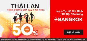 AirAsia giảm 50% giá vé đi Bangkok mùa Big Sale