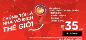 Săn vé AirAsia 35 USD vi vu điểm đến tuyệt vời