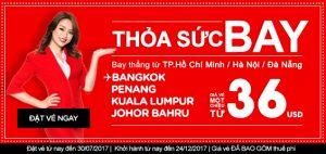 Bắt đầu cuộc phiêu lưu với vé rẻ AirAsia 36 USD!