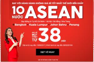 Bay 10 nước ASEAN, vé từ 38 USD/ hành trình