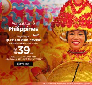 Săn vé AirAsia 39 USD vi vu thủ đô Philippines
