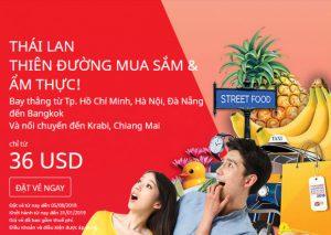 Book vé rẻ Air Asia từ 36 USD thả gả mua sắm và du lịch