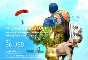Cơn lốc vé rẻ Air Asia đến Malaysia và Thái Lan chỉ từ 36 USD