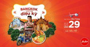 Bay thẳng Nha Trang đến Bangkok cùng Air Asia chỉ từ 29 USD