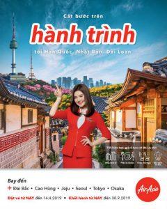Khuyến mãi Air Asia trải nghiệm vùng Bắc Á với giá cực rẻ từ 111 USD