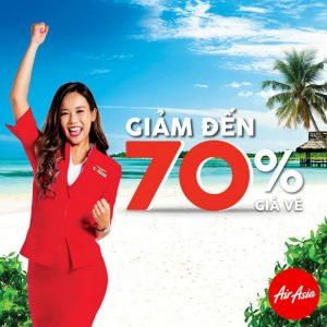 Air Asia sale khủng 70% đến Malaysia, Thái Lan, Philippines