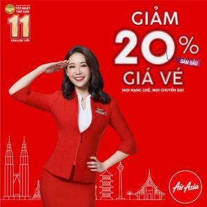 Cực sốc: Air Asia giảm 20% mọi hạng ghế, mọi chuyến bay