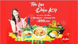 Air Asia khuyến mãi đi Thái Lan từ 999,000 VNĐ