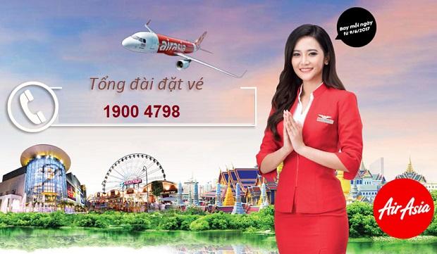 tổng đài đặt vé máy bay Air Asia